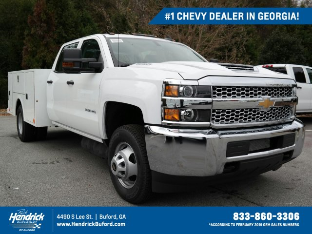 2019 Silverado 3500 Crew Cab DRW 4x2,  Warner Service Body #MF144173 - photo 1