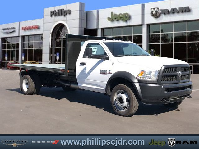 2018 Ram 5500 Regular Cab DRW 4x4, Action Fabrication Steel Flatbed Platform Body #180732 - photo 1