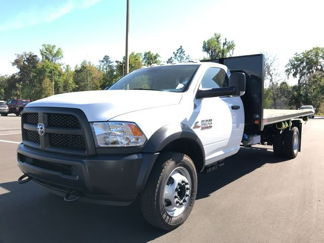 2018 Ram 5500 Regular Cab DRW 4x4,  Action Fabrication Platform Body #180761 - photo 7
