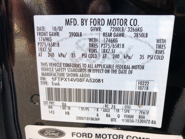 2008 F-150 Super Cab 4x4 Pickup #8FA52081 - photo 70