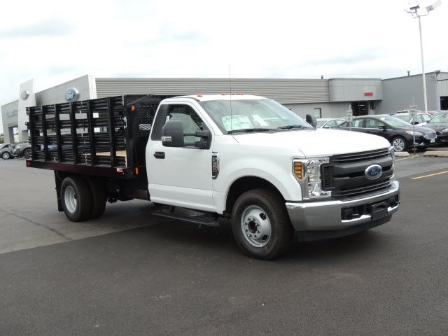 2018 F-350 Regular Cab DRW 4x2,  Monroe Stake Bed #IT5701 - photo 4
