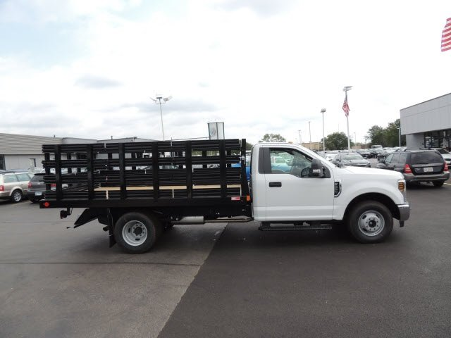 2018 F-350 Regular Cab DRW 4x2,  Monroe Stake Bed #IT5701 - photo 5