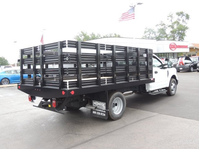 2018 F-350 Regular Cab DRW 4x2,  Monroe Stake Bed #IT5701 - photo 6