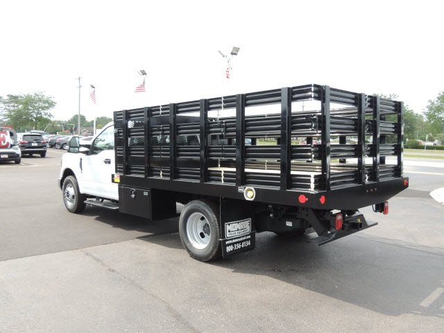 2018 F-350 Regular Cab DRW 4x2,  Monroe Stake Bed #IT5701 - photo 2