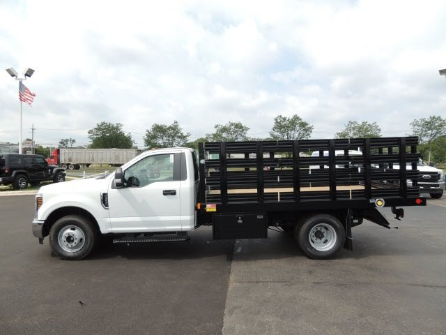 2018 F-350 Regular Cab DRW 4x2,  Monroe Stake Bed #IT5701 - photo 8