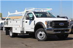 2017 F-450 Regular Cab DRW, Scelzi Contractor Flatbed Contractor Body #3991490 - photo 3