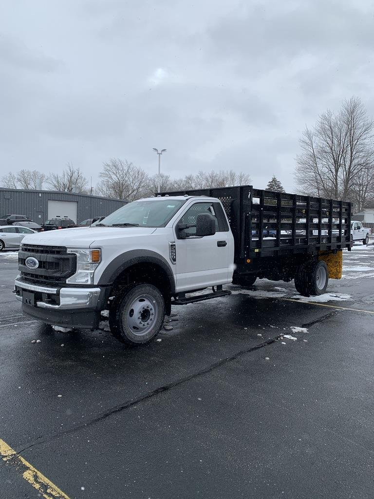 2021 Ford F-550 Regular Cab DRW 4x2, Parkhurst Stake Bed #NT1215 - photo 1