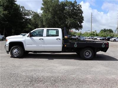 2019 Sierra 3500 Crew Cab DRW 4x4, Hillsboro GII Steel Platform Body #F19521 - photo 4