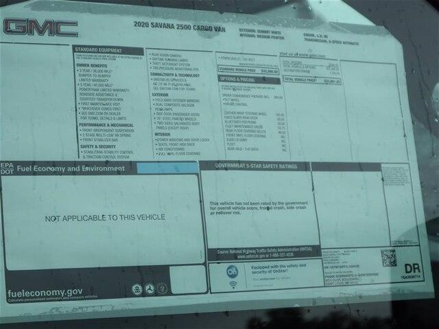 2020 GMC Savana 2500 RWD, Upfitted Cargo Van #F20765T - photo 15