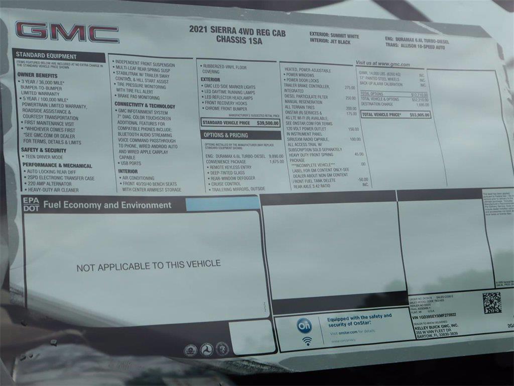 2021 GMC Sierra 3500 Regular Cab 4x4, Cab Chassis #F21657 - photo 15