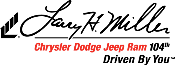 Larry H Miller Chrysler Dodge Jeep Ram 104th logo