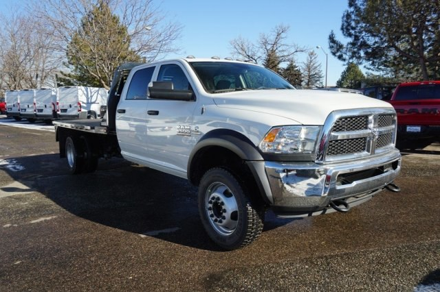 2018 Ram 5500 Crew Cab DRW 4x4,  Bedrock Platform Body #6974L - photo 4