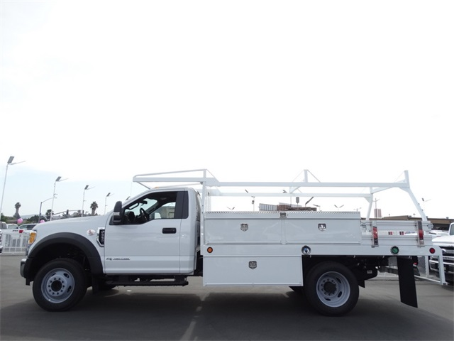 2017 F-550 Regular Cab DRW, Scelzi Contractor Flatbed Contractor Body #HEE29460 - photo 3