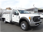 2017 F-550 Regular Cab DRW, Scelzi Contractor Flatbed Contractor Body #HEE29460 - photo 21