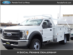 2017 F-550 Regular Cab DRW, Scelzi Contractor Flatbed Contractor Body #HEE29460 - photo 1
