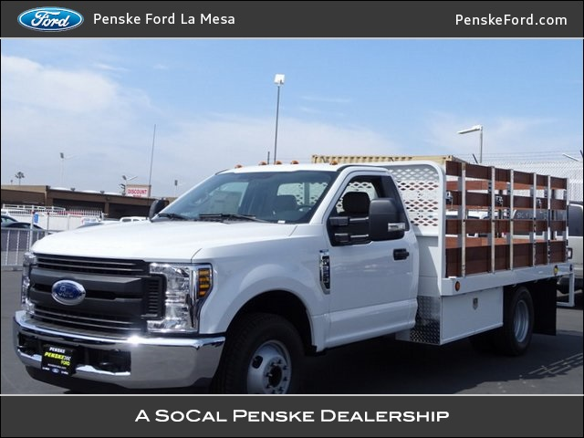 2018 F-350 Regular Cab DRW 4x2,  Scelzi WFB Stake Bed #JEB93022 - photo 1