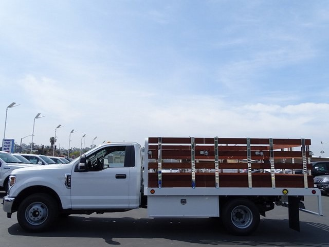 2018 F-350 Regular Cab DRW 4x2,  Scelzi WFB Stake Bed #JEB93022 - photo 3