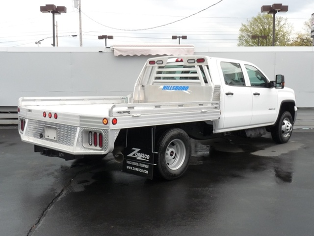 2018 Sierra 3500 Crew Cab DRW 4x4, Hillsboro Platform Body #40132 - photo 2