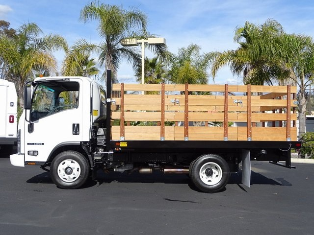 2019 Isuzu NPR Regular Cab 4x2, Metro Truck Body Stake Bed #191989 - photo 1