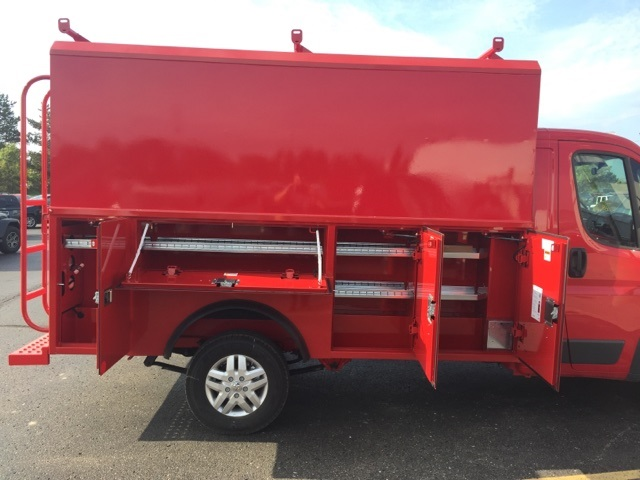 2018 ProMaster 3500 Standard Roof FWD,  Reading Service Utility Van #18U1465 - photo 10