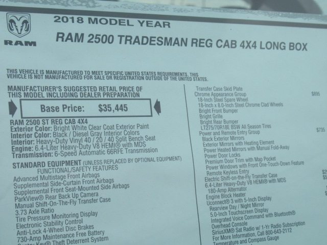 2018 Ram 2500 Regular Cab 4x4,  BOSS Pickup #18U2263 - photo 9