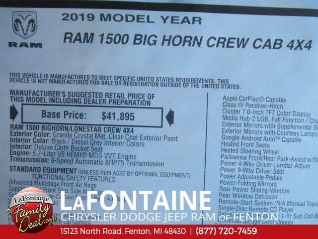2019 Ram 1500 Crew Cab 4x4,  Pickup #19U0178 - photo 2