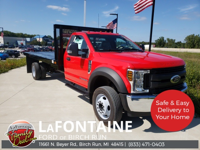 2019 Ford F-550 Regular Cab DRW 4x2, Parkhurst Stake Bed #19D790 - photo 1