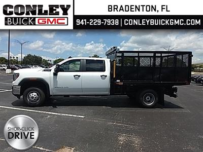 2020 Sierra 3500 Crew Cab 4x2, Action Fabrication Landscape Dump #GL245798 - photo 4