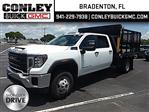 2020 Sierra 3500 Crew Cab 4x2, Action Fabrication Landscape Dump #GL245798 - photo 1