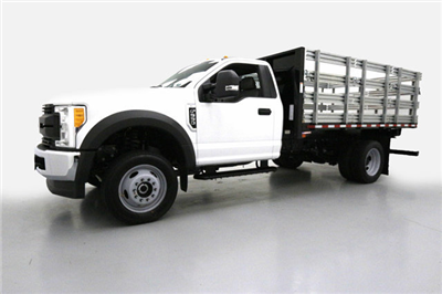 2017 F-550 Regular Cab DRW 4x4, Morgan Stake Bed #70817 - photo 8