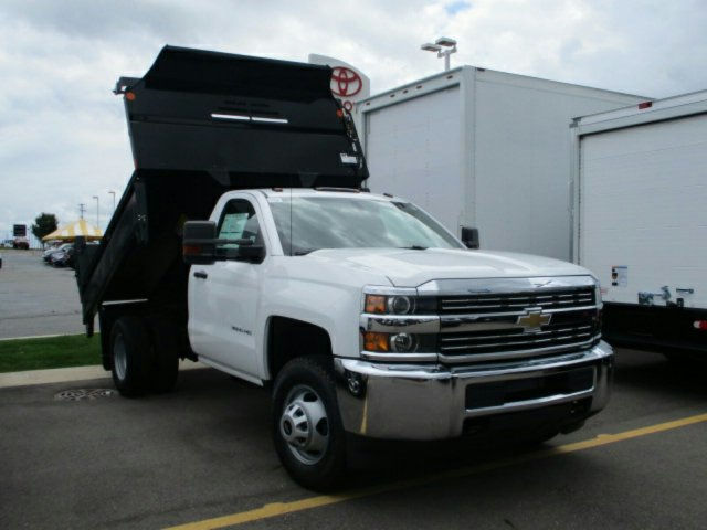 2017 Silverado 3500 Regular Cab 4x4, Dump Body #17K654C - photo 4