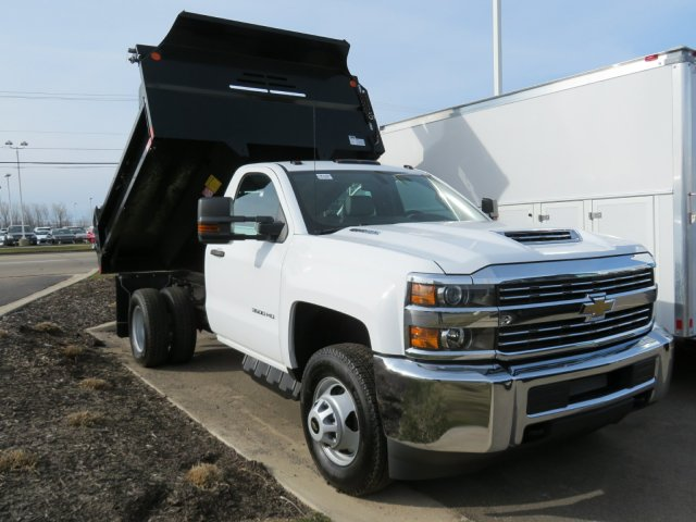 2018 Silverado 3500 Regular Cab DRW 4x4, Dump Body #18K248W - photo 3
