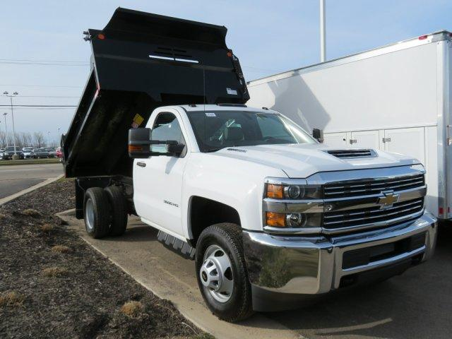 2018 Silverado 3500 Regular Cab DRW 4x4,  Monroe Dump Body #18K248W - photo 3