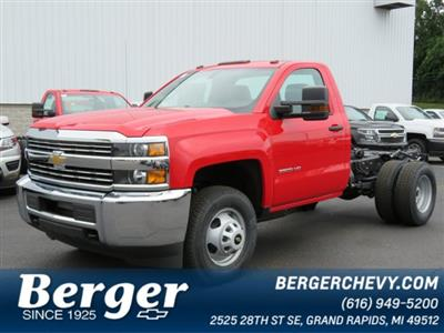 2018 Silverado 3500 Regular Cab DRW 4x4,  Cab Chassis #18K458W - photo 1