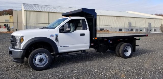 2019 F-550 Regular Cab DRW 4x4, PJ's Platform Body #KDA27454 - photo 1
