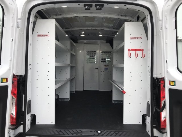 2019 Transit 150 Med Roof RWD,  Weather Guard Upfitted Cargo Van #KKA04252 - photo 2