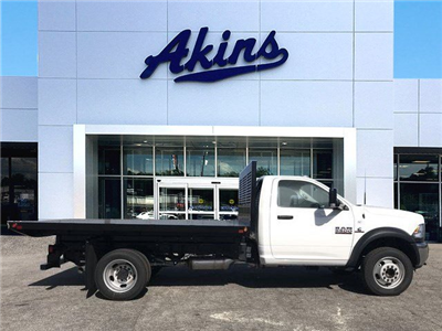 2018 Ram 5500 Regular Cab DRW 4x2,  Commercial Truck & Van Equipment CTVE Flat Bed Platform Body #JG103135 - photo 1