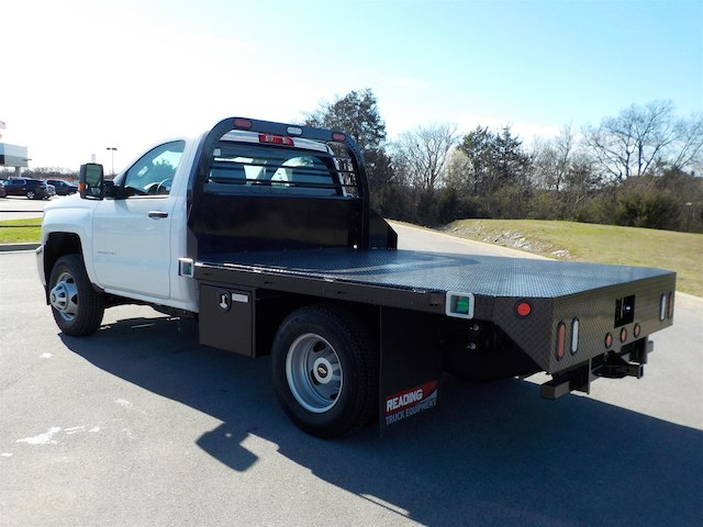 2018 Silverado 3500 Regular Cab DRW 4x4,  Reading Platform Body #18T303 - photo 6