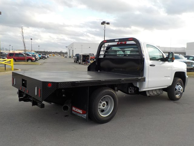 2018 Silverado 3500 Regular Cab DRW 4x4,  Reading Redi-Dek Platform Body #18T304 - photo 2