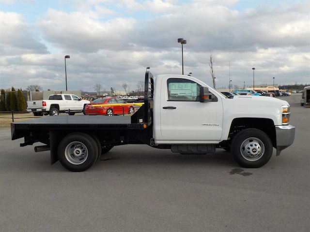 2018 Silverado 3500 Regular Cab DRW 4x4,  Reading Stake Bed #18T304 - photo 8