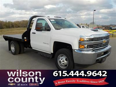 2018 Silverado 3500 Regular Cab DRW 4x4,  Reading Redi-Dek Platform Body #18T304 - photo 1
