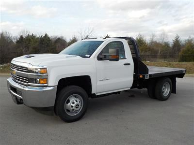2018 Silverado 3500 Regular Cab DRW 4x4,  Reading Redi-Dek Platform Body #18T304 - photo 4