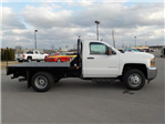 2018 Silverado 3500 Regular Cab DRW 4x4,  Reading Redi-Dek Platform Body #18T304 - photo 8