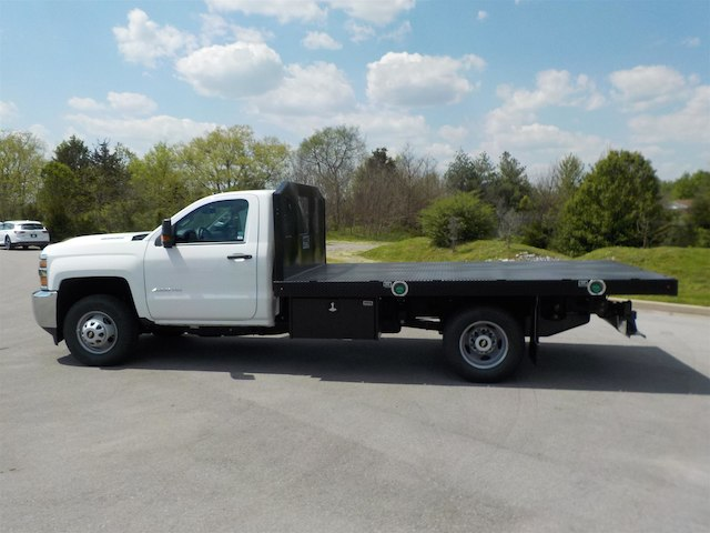 2018 Silverado 3500 Regular Cab DRW 4x4,  Monroe Platform Body #18T362 - photo 5