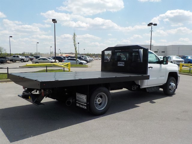 2018 Silverado 3500 Regular Cab DRW 4x4,  Monroe Platform Body #18T362 - photo 2