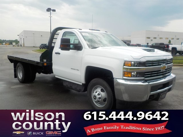 2018 Silverado 3500 Regular Cab DRW 4x2,  Reading Redi-Dek Platform Body #18T436 - photo 1