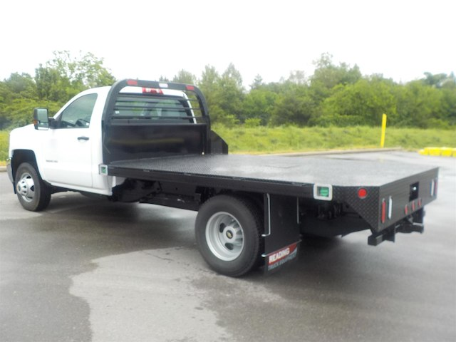 2018 Silverado 3500 Regular Cab DRW 4x2,  Reading Redi-Dek Platform Body #18T436 - photo 6