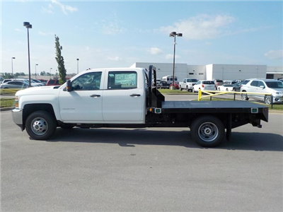 2018 Silverado 3500 Crew Cab DRW 4x4,  Reading Redi-Dek Platform Body #18T561 - photo 6