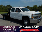 2018 Silverado 3500 Crew Cab DRW 4x4,  Reading Redi-Dek Platform Body #18T561 - photo 1