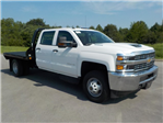 2018 Silverado 3500 Crew Cab DRW 4x4,  Reading Redi-Dek Platform Body #18T561 - photo 3